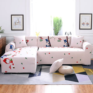 Remarkable Printing Sectional Sofa Cover Spandex Elastic Stretch Pdpeps Interior Chair Design Pdpepsorg