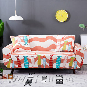Awe Inspiring Printing Sectional Sofa Cover Spandex Elastic Stretch Pdpeps Interior Chair Design Pdpepsorg