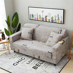Admirable Printing Sectional Sofa Cover Spandex Elastic Stretch Pdpeps Interior Chair Design Pdpepsorg