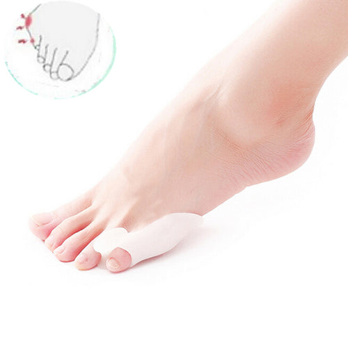 1 Pair Silicone Little Toe Finger Straightener Hallux Valgus Bunion Corrector Foot Health Care Product smrp