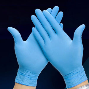 100pcs/box Blue Nitrile Disposable Gloves Wear Resistance  Medical  Work Gloves