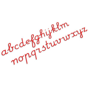 Medium Movable Alphabet: International Cursive - Red 0060H3