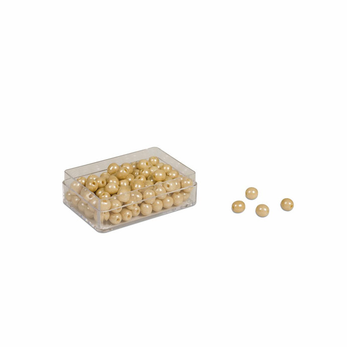 100 Golden Bead Units: Individual Beads Glass (with hole) 0077G0