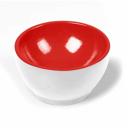 Wooden Cup: White / Red 00950005