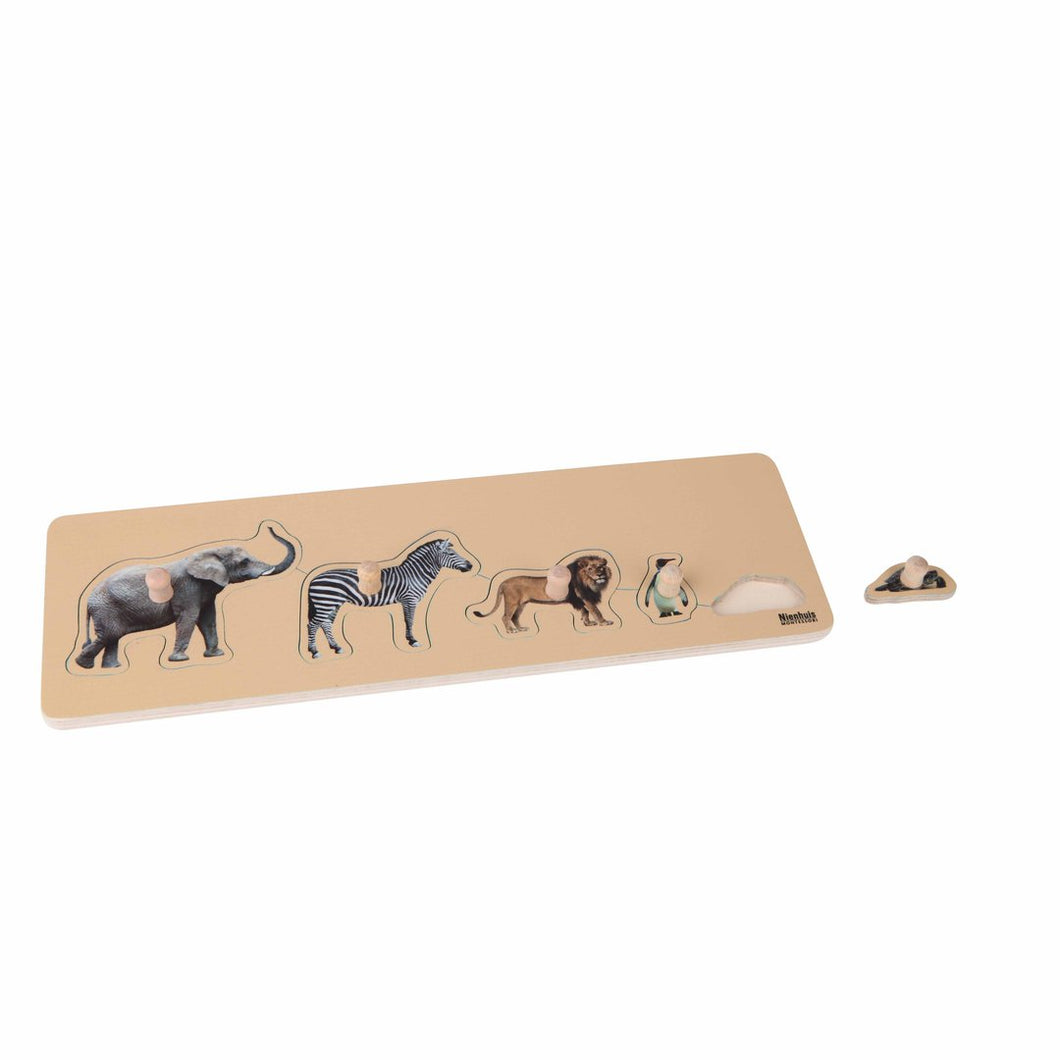 Toddler Puzzle: 5 Wild Animals 044450