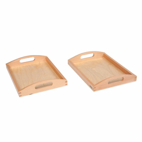 Wooden Tray Small: Set Of 2 047500