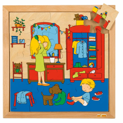 Hygiene puzzle - getting dressed E522592
