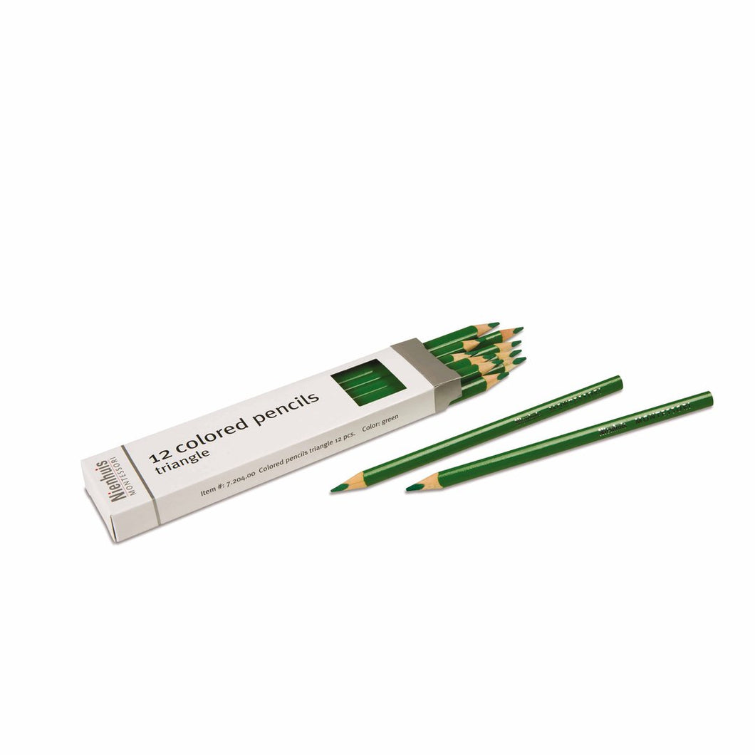 3-Sided Inset Pencils: Green 720400