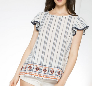 Emelia Vertical Striped Top