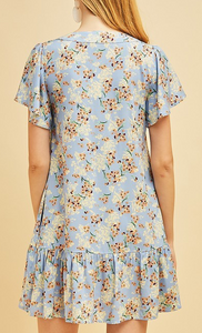 Lenya Floral Drop Waist Dress