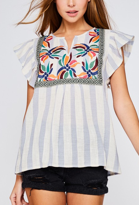 Gracey Embroidered Top