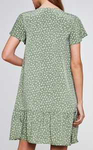 Maisy Dropwaist Dress in Sage
