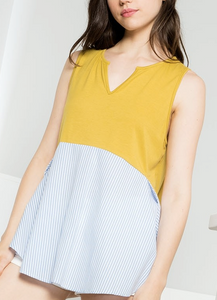 Sunshine and Searsucker Sleeveless Top