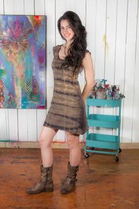 Cap Sleeve Dress - w/ shibori dye