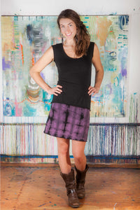 Mini Skirt - w/shibori dye