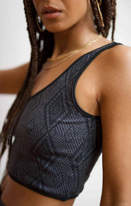 Serpiente Crop/Yoga Top by Una Pluma