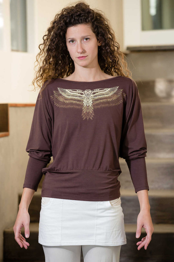 Triple Owl Wing Dolman Top