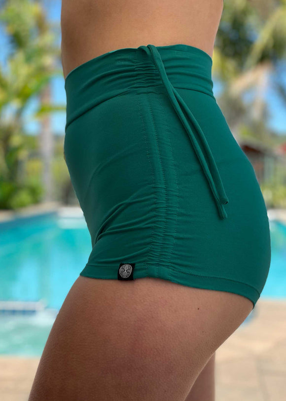 High-Waisted Booty Shorts - Solid Colors