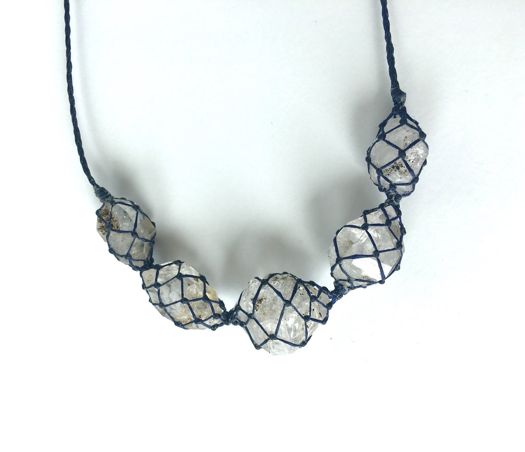 large 5x herkimer diamond necklace