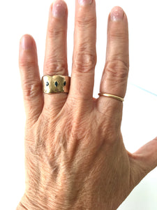 first ring wabi sabi - bronze + sapphires