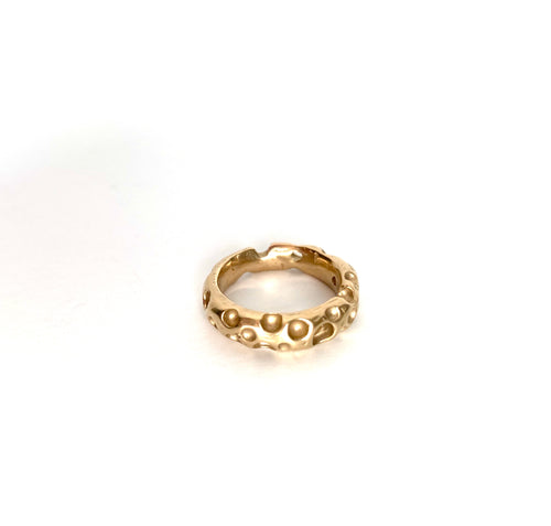 crater ring - 14k gold