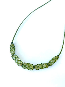 Green Apatite crystal necklace