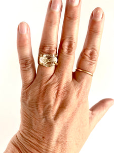 herkimer set in 14k gold ring
