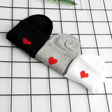 Load image into Gallery viewer, Ankle Length Heart Socks