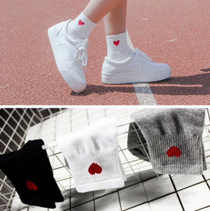 Ankle Length Heart Socks