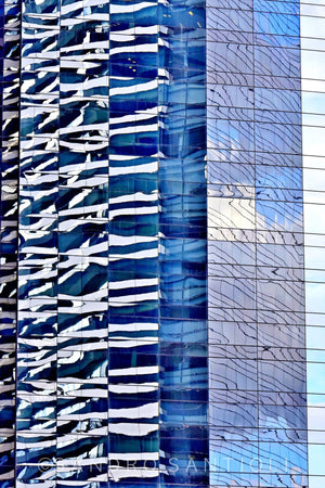 CITYSCAPES REFLEXES Vertical Wall Pictures