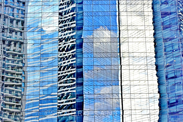 Wall Pictures - CITYSCAPES REFLEXES Horizontal - BRA6310