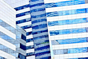 Wall Pictures -  CITYSCAPES REFLEXES Horizontal - BRA7055