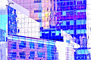 Wall Pictures - CITYSCAPES REFLEXES Horizontal - BRA2587