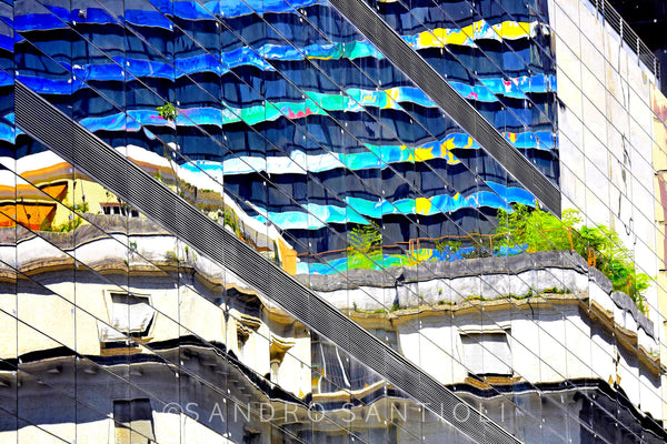 Wall Pictures - CITYSCAPES REFLEXES Horizontal - BRA2619
