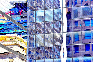 Wall Pictures - CITYSCAPES REFLEXES Horizontal - BRA2622