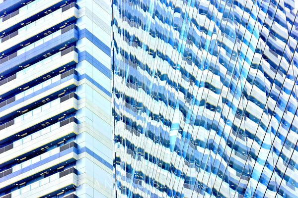 Wall Pictures - CITYSCAPES REFLEXES Horizontal - BRA7073