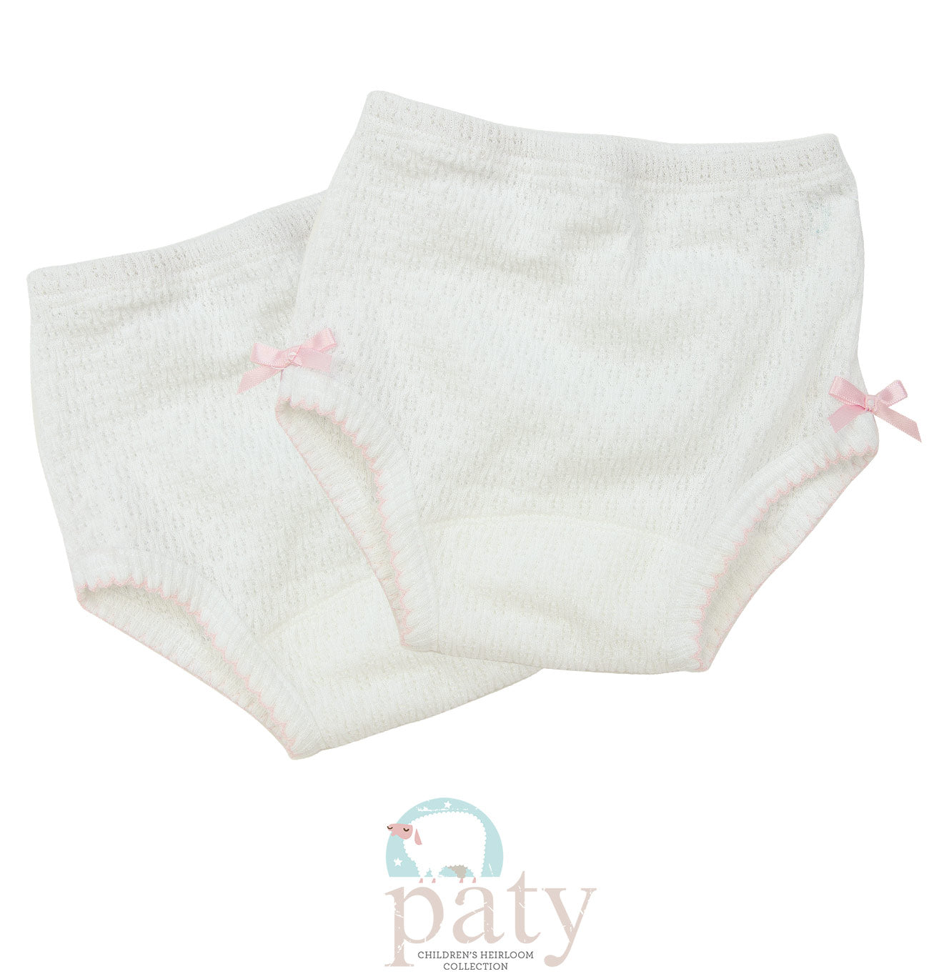 White Knit Bloomers