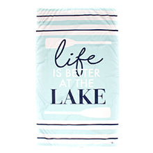 Load image into Gallery viewer, Lake Giant Beach Towel in Sky