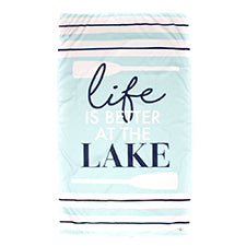 Lake Giant Beach Towel in Sky