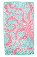 Load image into Gallery viewer, Octopus Giant Beach Towel in Mint/Pink