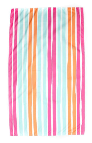 Aruba Stripe Giant Beach Towel in Pink/Aruba