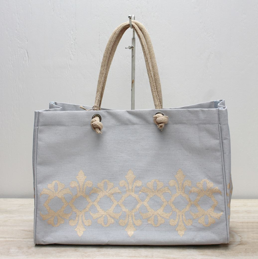 Vienna Glamour Juco Bag in Gray