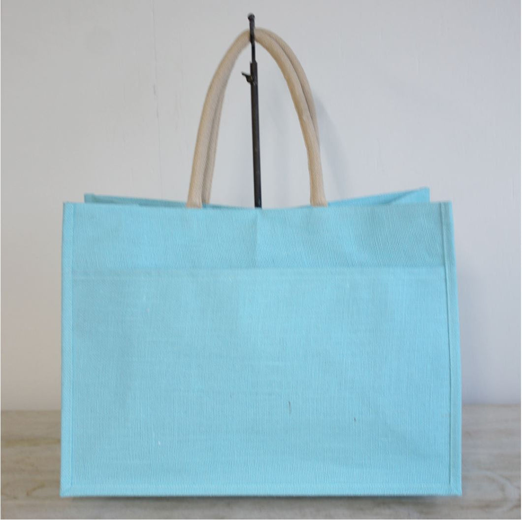 Jute Pocket Tote in Aruba