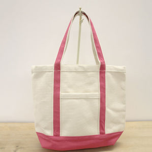 Kid's Ashville Canvas Tote in Natural/Pink