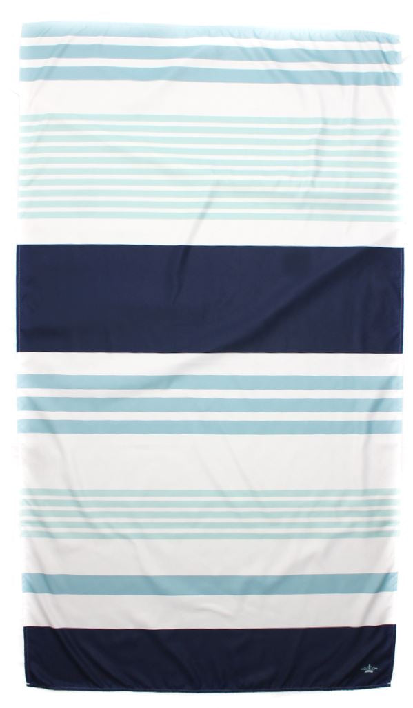 Paradise Stripe Giant Beach Towel in Navy/Lagoon