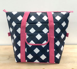 Gingham Convertible Cooler Bag