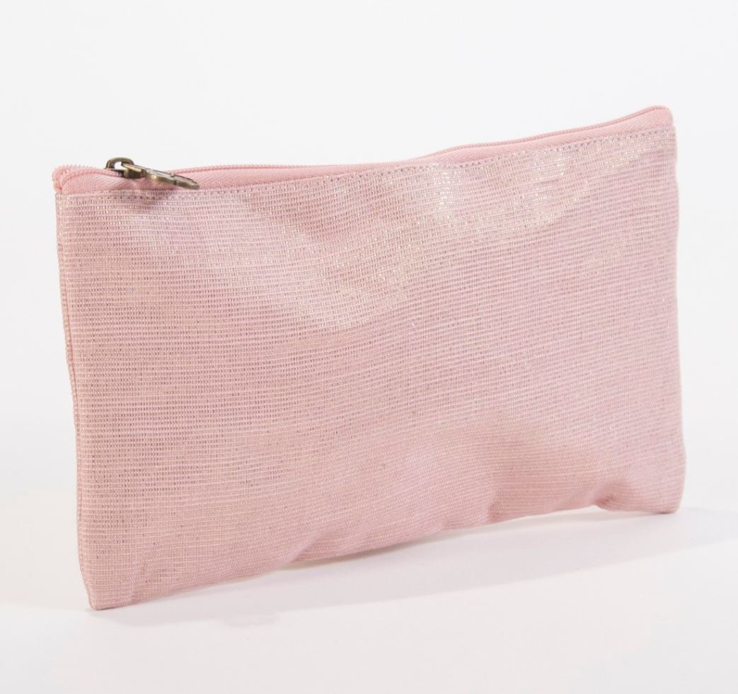 Shimmer Cosmetic Bag in Rose Gold