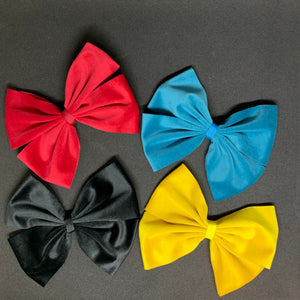 King Faux Velvet Double Bowtie