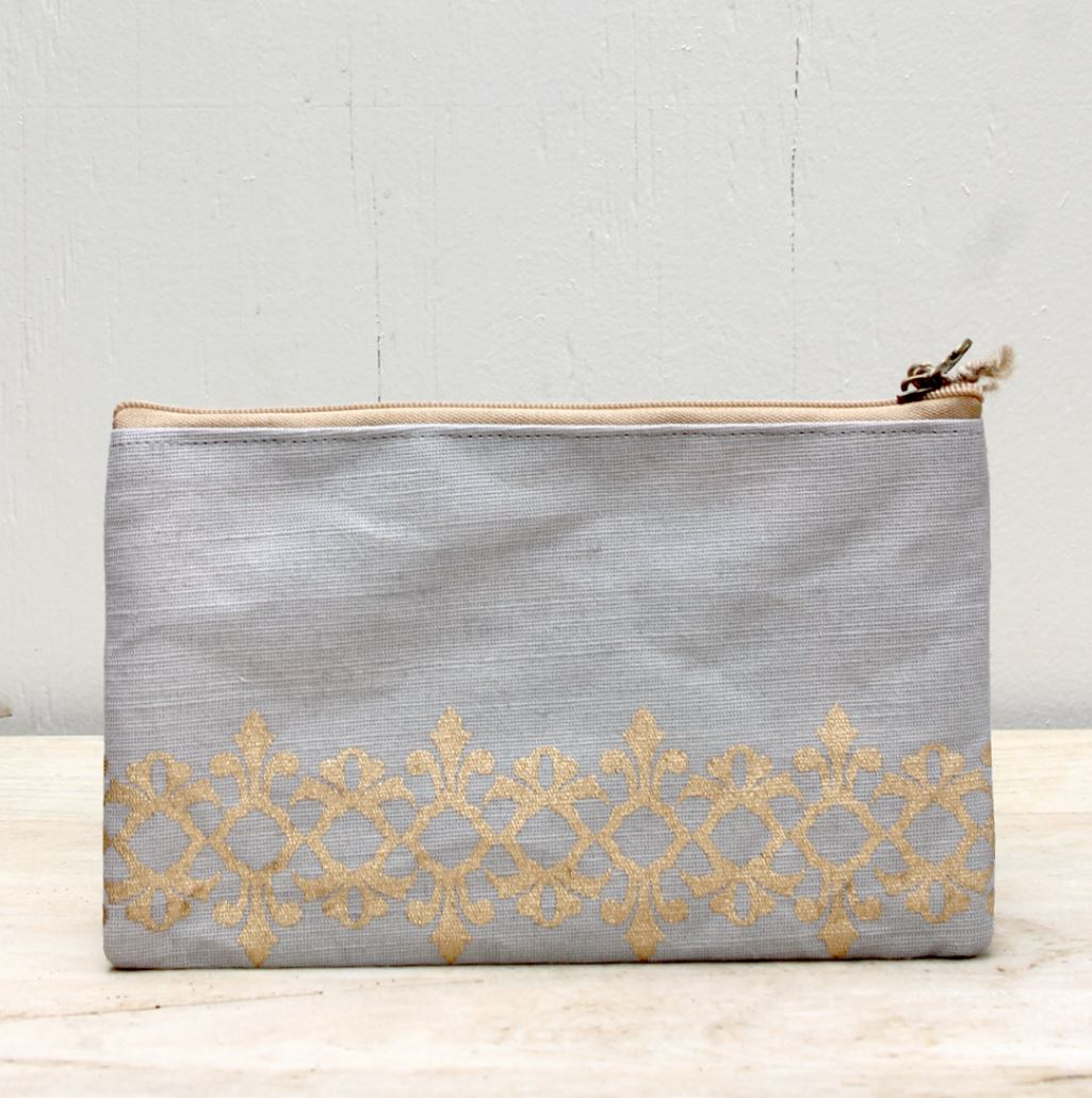 Vienna Glamour Cosmetic Bag in Gray