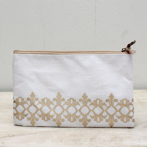 Vienna Glamour Cosmetic Bag in White
